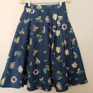 Adorable Chicwish Skirt - Vacation theme